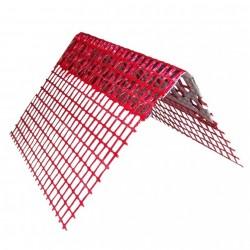Coltar aluminiu cu plasa rosie 10mm x 2.5m