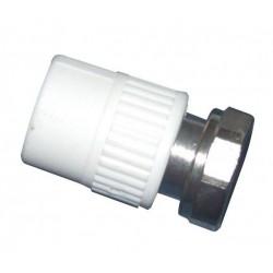 Racord semiolandez PP pres 25 x 3/4 FI