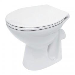 Vas de toaleta, monobloc, Cersanit, President 10, ceramic, Alb
