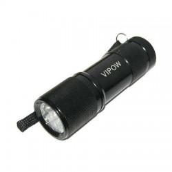 Lanterna aluminiu, 9 leduri, Neagra