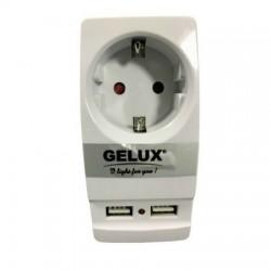 Adaptor suko si 2 prize USB